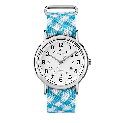 Timex Women's Weekender Gingham Watch