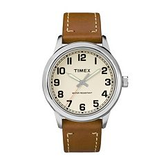Timex Men's New England Leather Watch