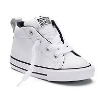 Toddlers Converse Chuck Taylor All Star Street Mid Leather Sneakers