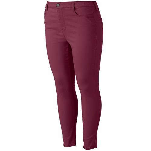 Juniors' Plus Size SO® Color High-Waist Ankle Jeggings