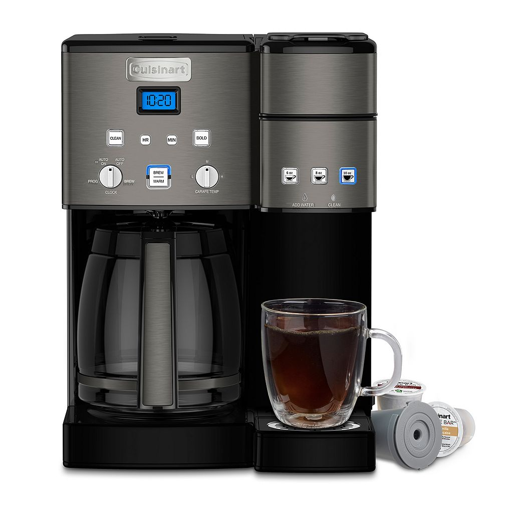 Cuisinart Black Stainless Steel 12-Cup Coffee Maker & Single-Serve Brewer