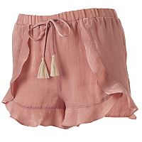 Juniors' Unionbay Ruffle Soft Shorts