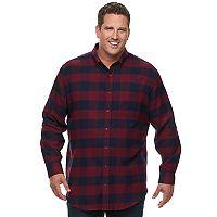 Big & Tall Croft & Barrow® True Comfort Classic-Fit Flannel Button-Down Shirt