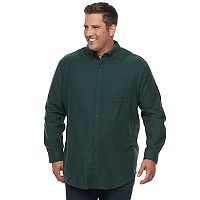 Big & Tall Croft & Barrow® True Comfort Classic-Fit Flannel Button-Down Shirt
