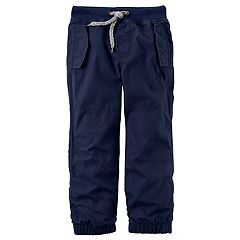 Baby Boy Carter's Jersey Lined Navy Jogger Pants