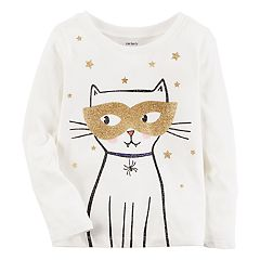 Baby Girl Carter's Halloween Cat Tee