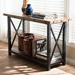 Baxton Studio Herzen Rustic Industrial Console Table