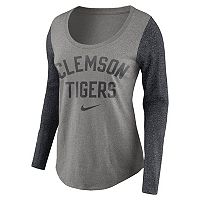 Women's Nike Clemson Tigers Raglan Essentials Tee