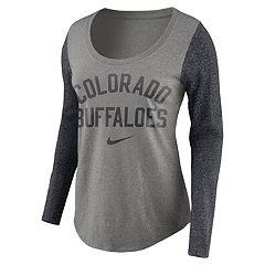 Women's Nike Colorado Buffaloes Raglan Essentials Tee