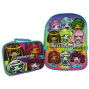 Kids Monster High Minis Backpack & Lunch Box Set