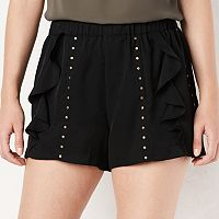 Women's LC Lauren Conrad Ruffle Stud Soft Shorts