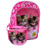 Kids Rachel Hale Photoreal Cat Backpack & Lunch Box Set