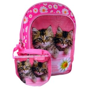 Kids Rachel Hale Photoreal Cat Backpack & Purse Set