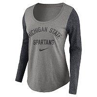 Women's Nike Michigan State Spartans Raglan Essentials Tee