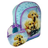 Kids Rachel Hale Photoreal Puppies Backpack & Purse Set