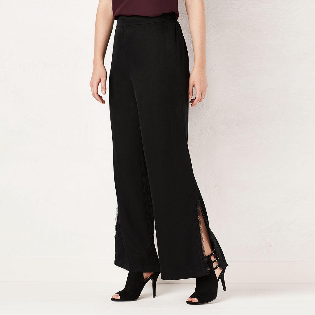 Women's LC Lauren Conrad Lace-Trim Soft Pants