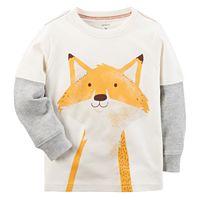 Baby Boy Carter's Mock-Layer Fox Tee