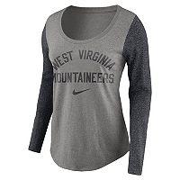 Women's Nike West Virginia Mountaineers Raglan Essentials Tee