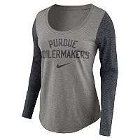 Women's Nike Purdue Boilermakers Raglan Essentials Tee