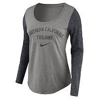 Women's Nike USC Trojans Raglan Essentials Tee