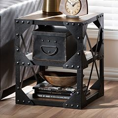 Baxton Studio Hudson Industrial End Table