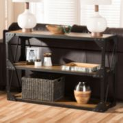 Baxton Studio Hudson Industrial Console Table