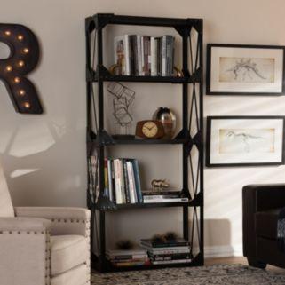 Baxton Studio Hudson Industrial Bookshelf