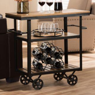 Baxton Studio Kennedy Rolling Bar Cart