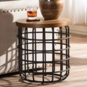Baxton Studio Carie Rustic Industrial End Table