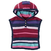 Baby Girl Carter's Hooded Striped Poncho
