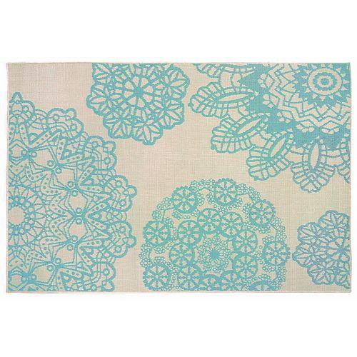 Liora Manne Terrace Crochet Medallion Indoor Outdoor Rug