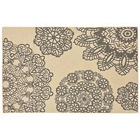 Trans Ocean Imports Liora Manne Terrace Crochet Medallion Indoor Outdoor Rug