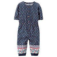 Baby Girl Carter's Geometric Henley Jumpsuit