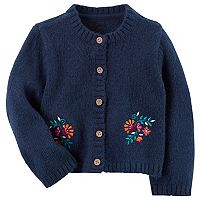 Baby Girl Carter's Floral Embroidered Cardigan