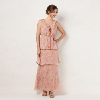 Women's LC Lauren Conrad Tiered Ruffle Maxi Dress