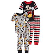 Disney's Mickey Mouse Toddler Boy Striped Tops & Pants Pajama Set