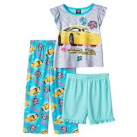 Disney / Pixar Cars 3 Toddler Girl Cruz Pajama Top, Shorts & Pants Set