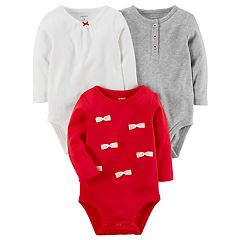 Baby Girl Carter's 3 pkLong Sleeve Bodysuits