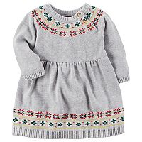 Baby Girl Carter's Holiday Fairisle Dress