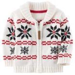 Baby Boy Carter's Fairisle Zip-Up Sweater