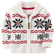 Baby Boy Carter's Fairisle Zip-Up Sweater