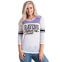 Women's 5th & Ocean by New Era Baltimore Ravens Burnout Tee