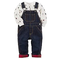 Baby Boy Carter's Denim Overalls & Penguin Thermal Bodysuit Set