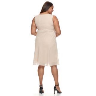 Plus Size Le Bos Georgette Evening Gown & Jacket Set