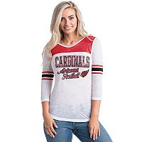 Women's 5th & Ocean by New Era Arizona Cardinals Burnout Tee