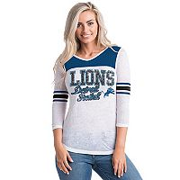 Women's 5th & Ocean by New Era Detroit Lions Burnout Tee