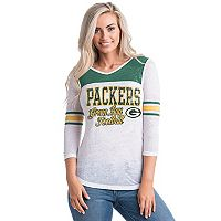 Women's 5th & Ocean by New Era Green Bay Packers Burnout Tee