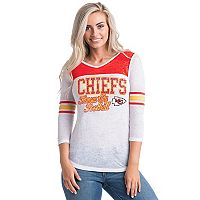 Women's 5th & Ocean by New Era Kansas City Chiefs Burnout Tee