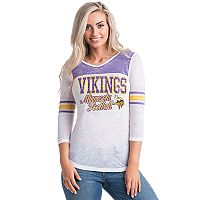 Women's 5th & Ocean by New Era Minnesota Vikings Burnout Tee