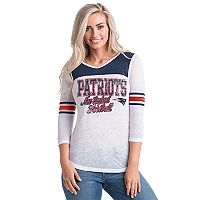 Women's 5th & Ocean by New Era New England Patriots Burnout Tee